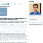 Daniel Y. Maman, MD highlights the benefits of tummy tuck surgery following pregnancy.