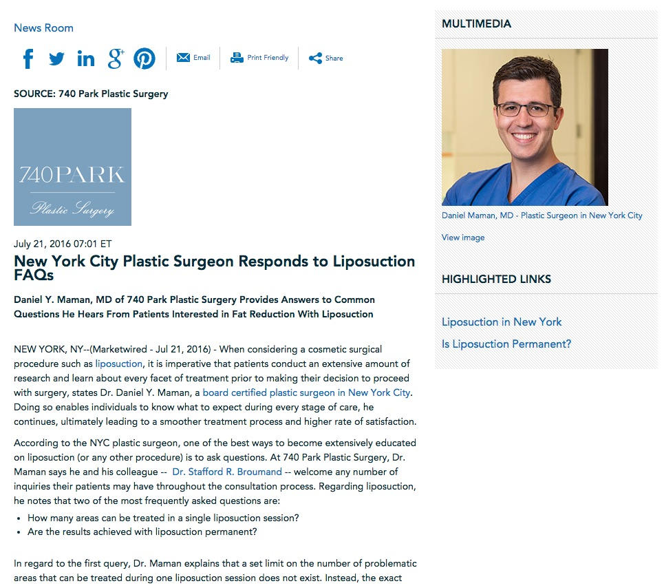 NYC plastic surgeon answers common questions about liposuction.